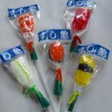 まぐろ(アップル味)えび(オレンジ味)いくら(オレンジ味)かわいい握り寿司の棒付キャンディー すし飴5本セット